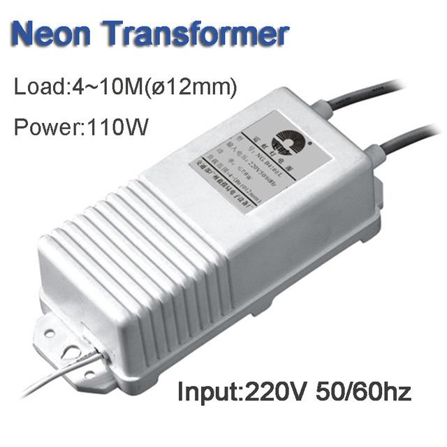 Fuente de alimentación de transformador electrónico, señal de neón, rectificador de luz de neón, entrada 220V, salida 10kv30ma, carga de 4 10 metros, 110W, Envío Gratis