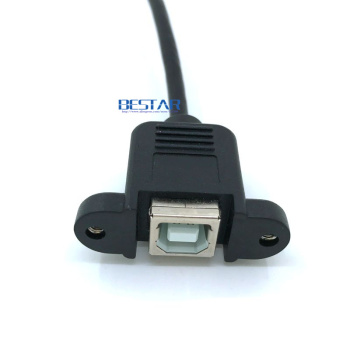 Mini-USB 5pin Mini USB 2.0 Male to USB 2.0 B Type Female Connector Cable 30cm 50cm With Panel Mount Hole cables
