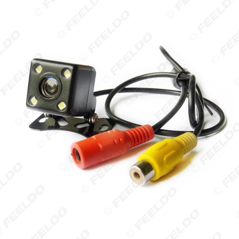 FEELDO 1 zestaw samochodowy 8-czujnik czujnik parkowania z 2 sztuk Night Vision kamera led podwójny wizualne wideo z tyłu czujnik parkowania System