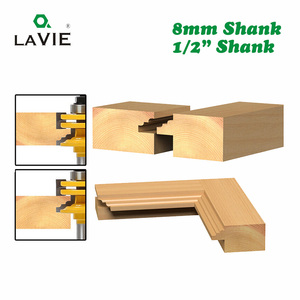 """Image 4 - LAVIE 1pc 8mm 12mm 1/2"""" Shank Glass Door Rail & Stile Reversible Router Bit Woodworking Milling Cutting for Wood Tool Bits 02014"""