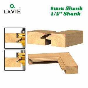 "Image 4 - Lavie 1 Pc 8 Mm 12 Mm 1/2 ""Shank Glas Deur Rail & Stile Omkeerbare Router Bit Houtbewerking Frezen snijden Voor Hout Tool Bits 02014"