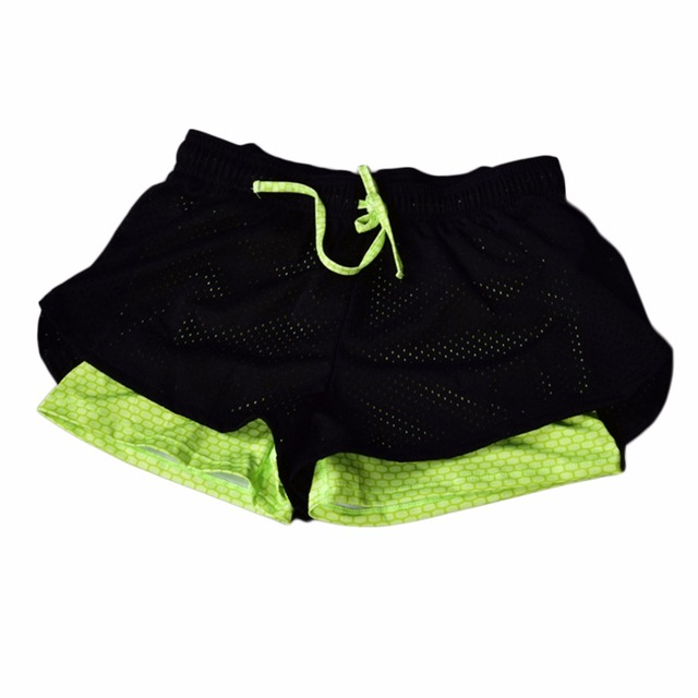 7 colours Sports Shorts Women Shorts Loose Cotton Side Split Elastic Waist Women Shorts  2 In 1 Running Tights Short