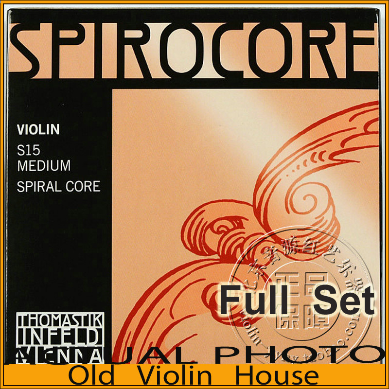 Original Thomastik  Spirocore (S15) Violin Strings , Aluminum E, Full set,made in Austria ,Free shipping free shipping evah pirazzi violin strings full set ball end made in germany for 4 4