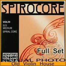 Original Thomastik Spirocore (S15) Cuerdas de Violín, aluminio E, conjunto completo, hecho en Austria, envío gratis