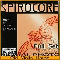 Thomastik Spirocore S 15 Violin String Aluminum E Full Set Made In Austria Free Shipping