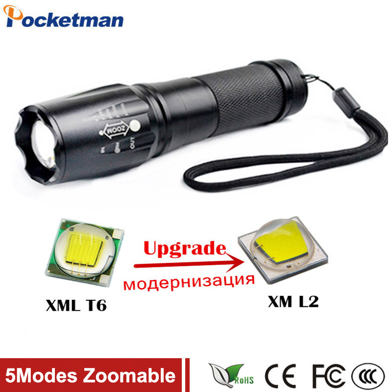 4000 Lumens High Power XML-L2 5 Modes LED Flashlight Waterproof Zoomable Torch lights lampe torche linterna led puerh 357g puer tea chinese tea raw pu erh sheng pu er free shippingtd39