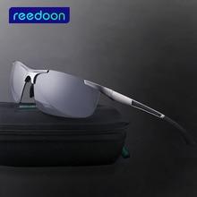 Reedoon gafas de sol masculinas masculinas polarizadas gafas de sol de Los Hombres gafas de sol de aluminio magnesio gafas de sol 8282