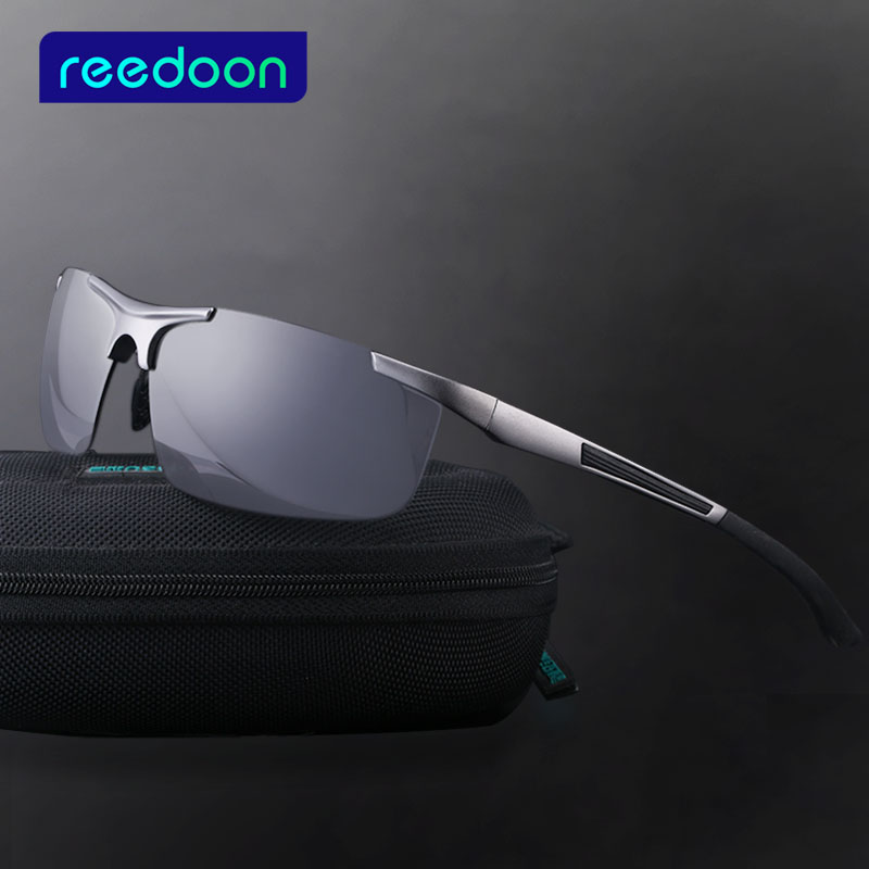 REEDOON Aluminum Brand New Polarized Solbriller Mænd Fashion Sun Glasses Travel Driving Mand Eyewear Oculos Gafas De So 8282