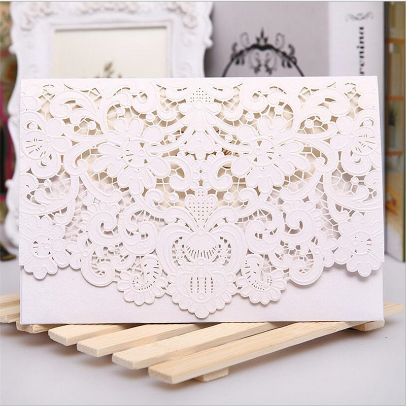 50pcs wedding invitations cards wedding cards for mariage printable romantic girl birthday greeting cards post cards no inners