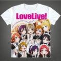 2016 Love Live Camiseta Anime Japonês Famoso Animação Novidade Verão T-shirt dos homens de Roupas Traje Cosplay