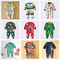 0-12M Random Delivery Baby Boys Rompers Long Sleeves O-Neck Fleece Clothing Jumpsuits Newborn Boy Rompers Baby Clothing V20