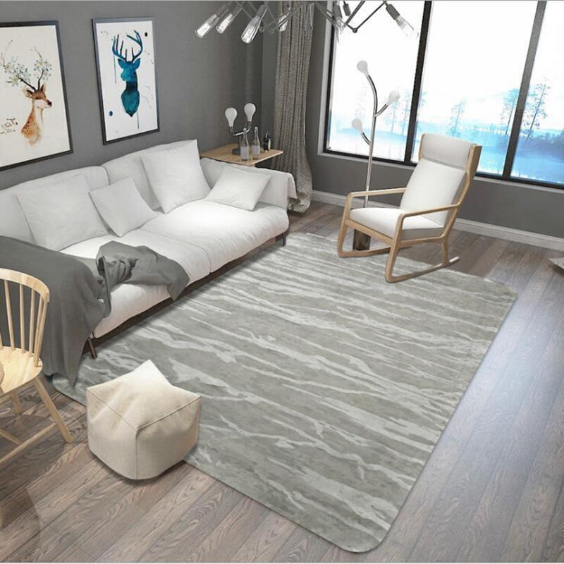 Analytisch Grau Serie Großen Bereich Teppiche Abstrakte Stil Teppich Gleitschutz Super Weich Boden Matte Teppiche Für Wohnzimmer Multi-größe Dekoration Teppich