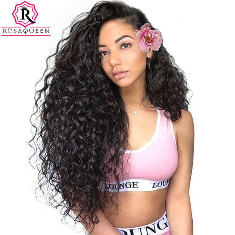 250% Glueless Full Lace Human Hair Wigs For Women Loose Wave Brazilian Virgin Wig Pre Plucked With Baby Hair Black Rosa Queen