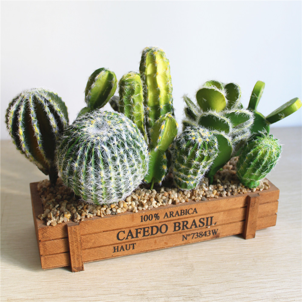 Foreign Trade Excellent Products Artificial Succulent Plant Cactus Green Plant Desktop Creative DIY Fake Plant Table Holiday 29-1