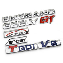 Für Begrenzte Edition T GDI V6 Sport Emblem für Geely Emgrand EC7 EC8 X7 GX Vision King Kong GT GE CK MK Chrome Körper Aufkleber Auto