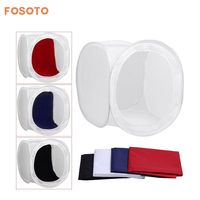 80x80 cm Photo Studio Shooting Tent Light Diffusion Soft Box Kit with 4 Colors Backdrops for Photography