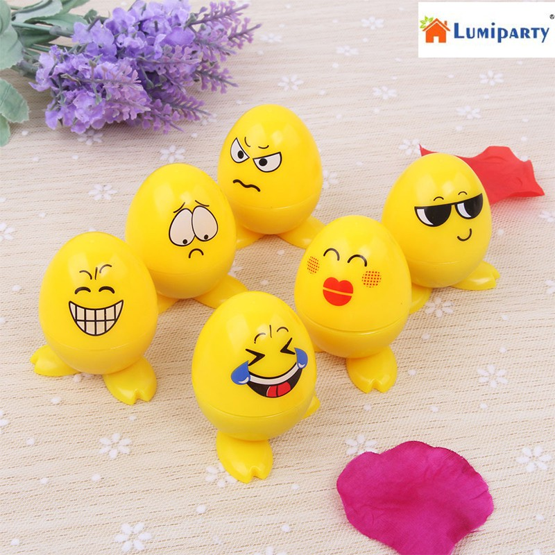 LumiParty 24Pcs Egg Shaped Plastic Stamps Cute Self Inking Emoji Expression Stamps Toy for Scrapbooking Decor Children Gift-25 new arrival 6pcs teachers stamper self inking praise reward stamps motivation sticker school bi1s