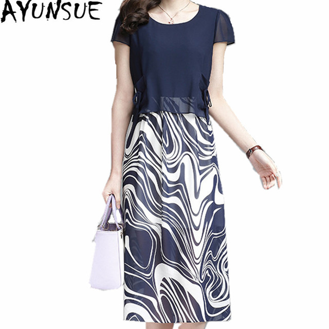 b04cdb0f5024a AYUNSUE 2018 Spring Summer Dress Female Slim Floral Dresses Korea Style  Women Dress Chiffon Plus Size
