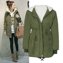 Winter Jacket Women Plus Size 5XL Hooded Women Green Military Jacket With Fur Long Sleeve Casual Casacos De Inverno Feminino#A11