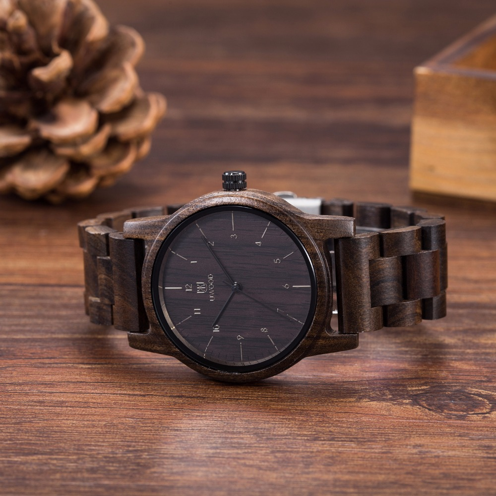 Vintage Ebony Wood Watches Men Watch Women Fashion Mens Watches Top Brand Luxury Quartz Watches Wooden Wristwatches Unisex Gifts все цены