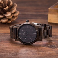 Vintage Ebony Wood Watches Men Watch Women Fashion Mens Watches Top Brand Luxury Quartz Watches Wooden Wristwatches Unisex Gifts