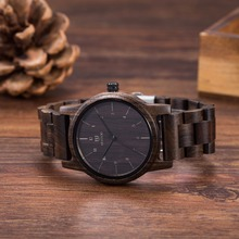 Vintage heban drewniane zegarki mężczyzna zegarka kobiet mody męskie zegarki Top marka luksusowe zegarki kwarcowe drewniane zegarki na rękę Unisex prezenty tanie tanio Składane zapięcie z bezpieczeństwem 39mm Odporny na wstrząsy QUARTZ Automatyczne self-wiatr ROUND Nie wodoodporne Papier