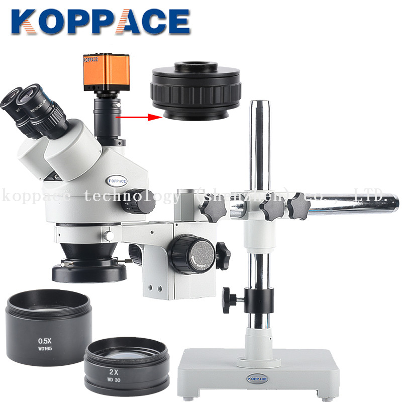 KOPPACE 3 5 90X Magnification 16MP Industrial Microscope Camera HD HDMI USB Camera Electron Camera 0