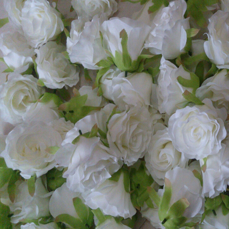100Pcs Lot Top Quality Really Look 9Cm Silk Rose Flower Head Wedding Supply Home Decor in Artificial Dried Flowers from Home Garden