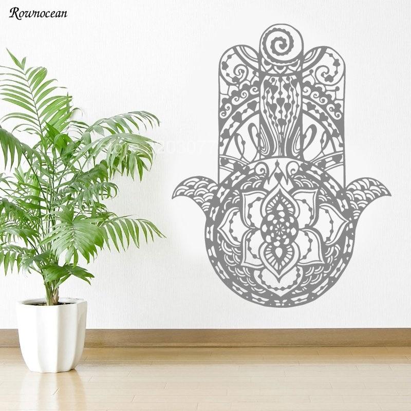 Hamsa Wall Decal Vinyl Sticker Decals Home Decor Hand Fatima Ganesh Z159