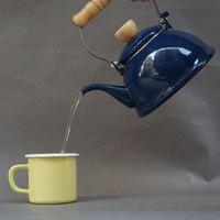 Water kettles enamelware coffee pot ceramic teapot Enamel kettle enamelware beverage dispenser camping enamelware over fire