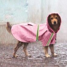 Водонепроницаемый дождевик для собак дождевик для животных золотистый Лабрадор-ретривер Одежда для собак кошек Ночная Светоотражающая Большая маленькая Снежная Одежда для собак