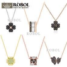 206bd1538a17 ROBOL alta calidad Swa collares originales colgantes fabricación de joyas  para mujeres venta al por mayor marca 1 1 producción r.