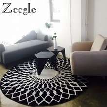 Zeegle Nordic Gray Series Round Carpets for Living Room Computer Chair Area Rug Children Play Floor Mat Cloakroom Carpet(China)