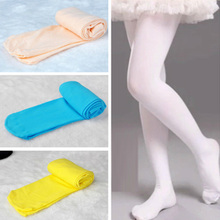 Autumn Candy Color Kids Girls Tights Pantyhose Ballet Dance Tights for Girls Stocking Children Soft Velvet White Pantyhose kids children pantyhose girl tights with bow tights for girl kids dance ballet stocking summer thin anti mosquito girls clothing