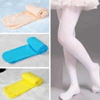 Doce Cor de outono Crianças Meninas Collants Meia-calça Meias de Dança Balé para Meninas Lotação Crianças Meia-calça de Veludo Macio Branco
