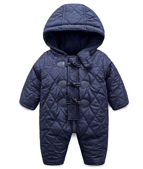 2018 winter baby bodysuit cotton-padded jacket baby jumpsuit bodysuit children's male girl clothing han edition printing cotton padded jacket is beautiful and comfortable small cotton padded jacket of cultivate one s morality