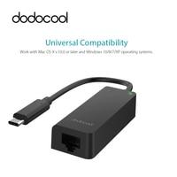 Dodocool USB 3 1 Type C Thunderbolt 3 To RJ 45 10 100 1000 Gigabit Ethernet