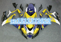 Dor yellow blue white black for K6 GSXR600 750 06 07 GSXR600 GSXR750 06 07 GSXR 600 750 2006 2007 ABS fairing kit for SUZUKI D