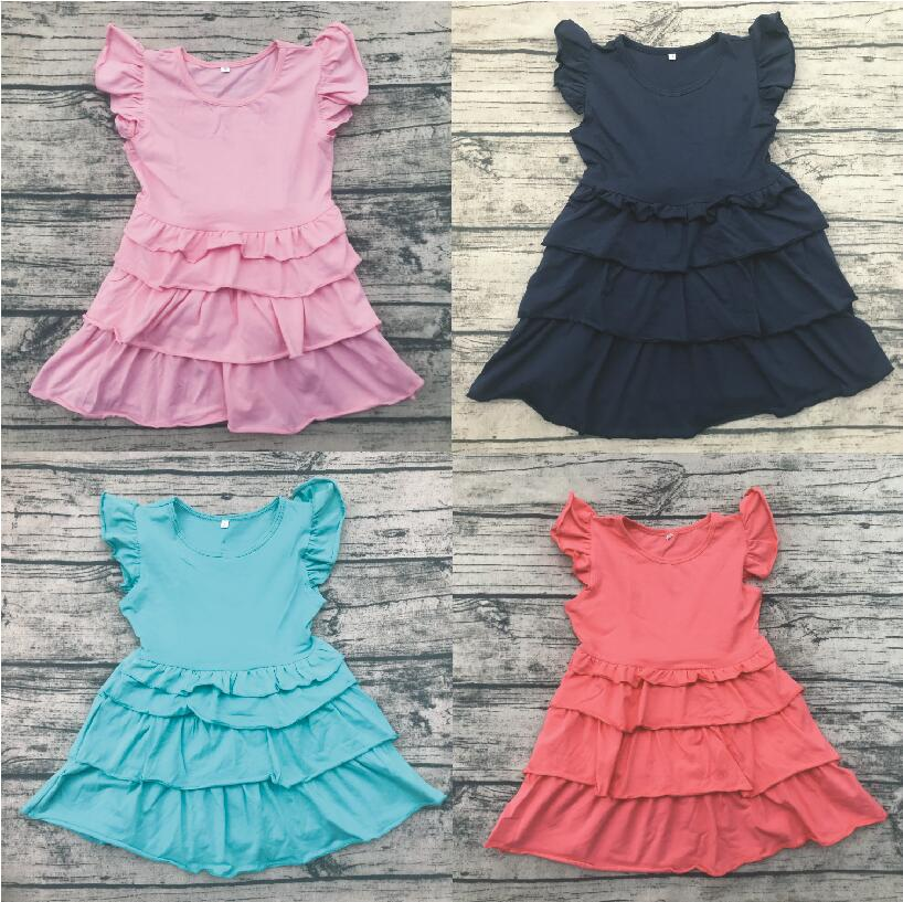 61e25e90889 Aliexpress.com   Buy boutique girl bf photo children princess cotton dress  baby flutter sleeve ruffle dress kids summer clothing from Reliable Dresses  ...