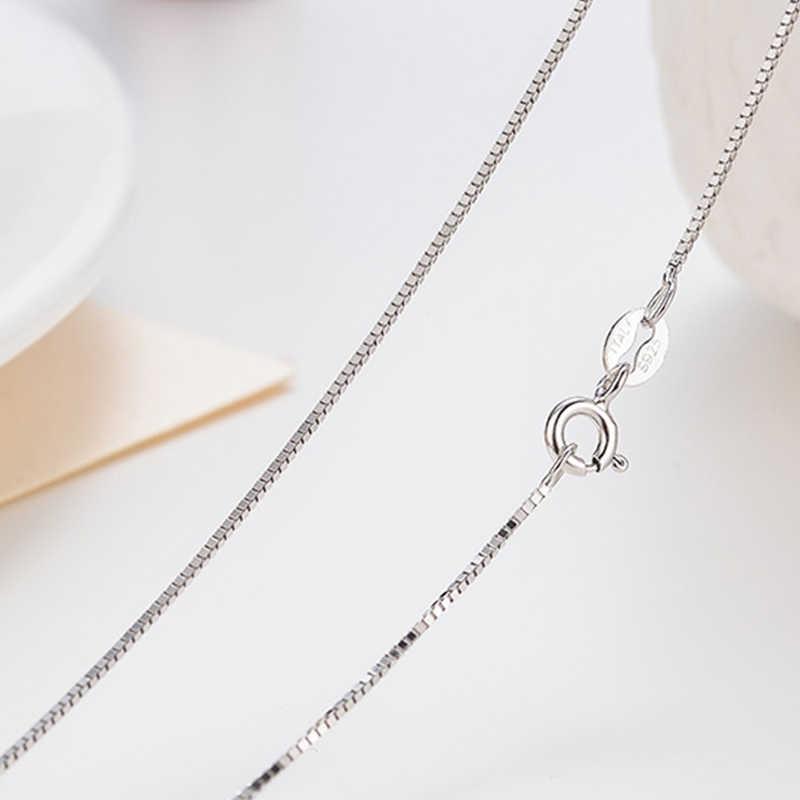 UMCHO Classic Basic Chain 100% oryginalna 925 Sterling Silver karabińczyk regulowany naszyjnik łańcuch biżuteria dla kobiet
