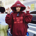 MAY THE BRIDGES BURN LIGHT THE WAY Red Hoodies Women Oversized hiphop Sweatshirt Hooded Tracksuits & Drawstring CN SIZE