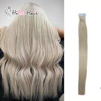 HiArt 2,5 г/шт. ленты в Пряди человеческих волос для наращивания салон Стиль свет Цвет Волосы remy клейкой ленты расширения прямо 20 шт 18 20 22