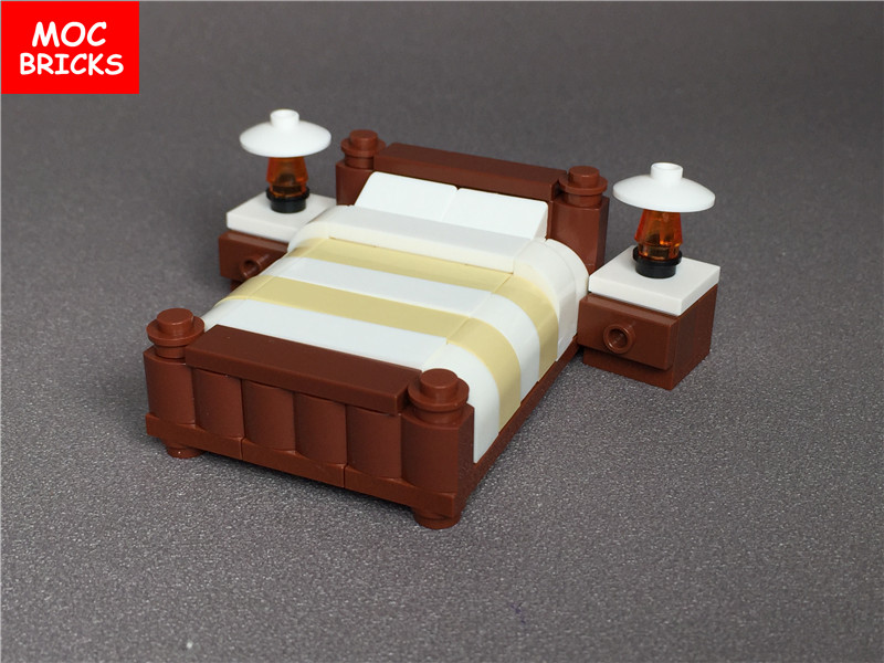 Bricks furniture Kitchen Variants Pxhere Dropwow Moc Bricks Diy Colorful Decoration Furniture Double Bed