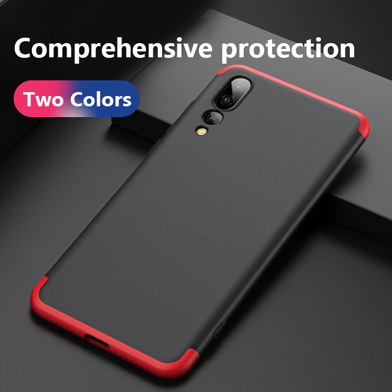 For HUAWEI P20 Pro 360 Degree Full Protection Hard Case For HUAWEI P20 Back Cover shockproof case Tempered glass
