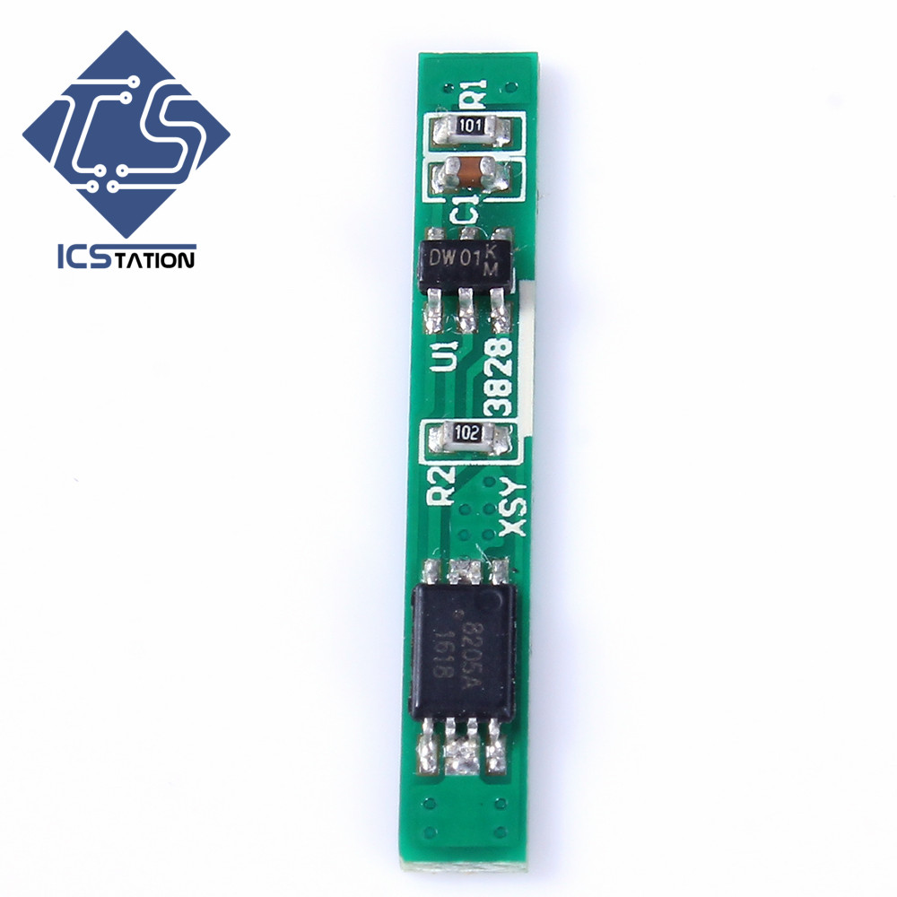 1pcs 1S 3.7V 2.5A Lithium Batterry Protection Board BMS PCM PCB Polymer Over Charge Discharge Li-ion Protect Module protection circuit 4s 30a bms pcm pcb battery protection board for 14 8v li ion lithium battery cell pack sh04030029 lb4s30a