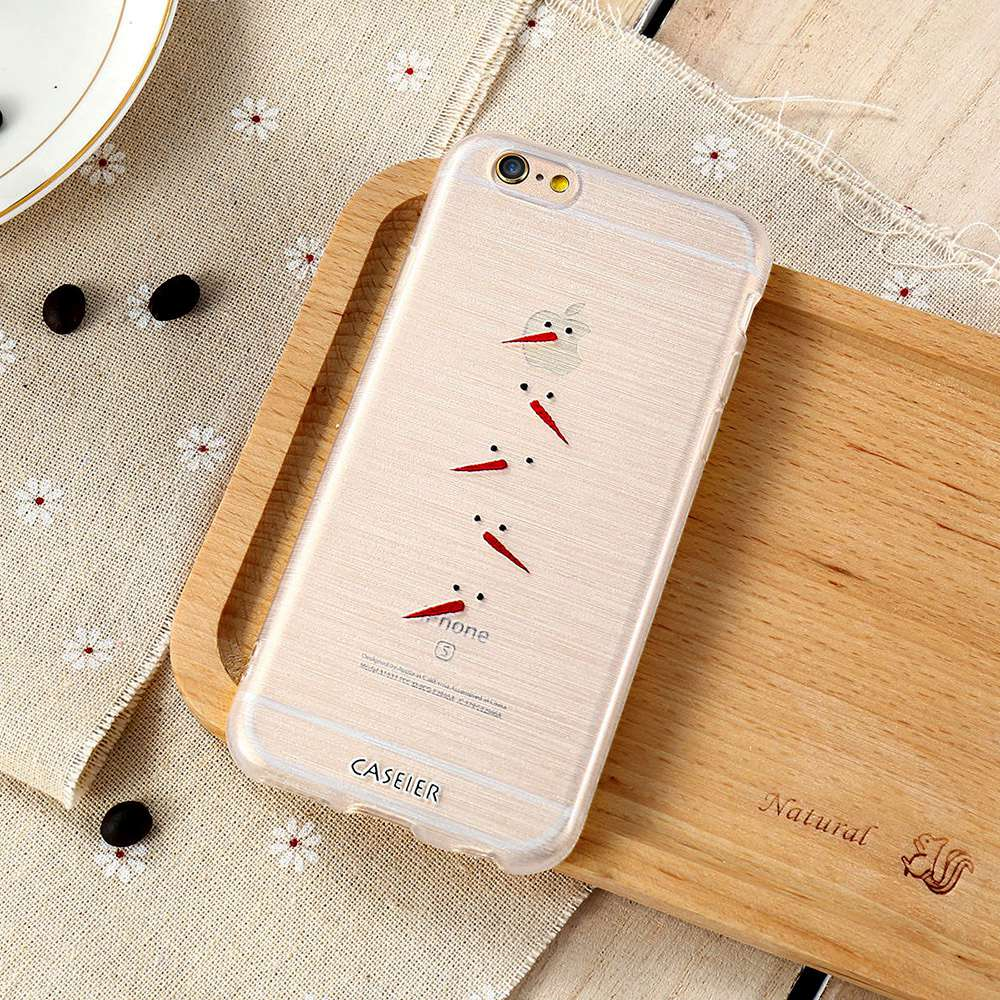 CASEIER Christmas Embossed Relief Case For iPhone 7 6 6s Plus 5 SE ...