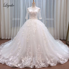 Liyuke Luxurious Embroidery Tulle Ball Gown Wedding Dresses