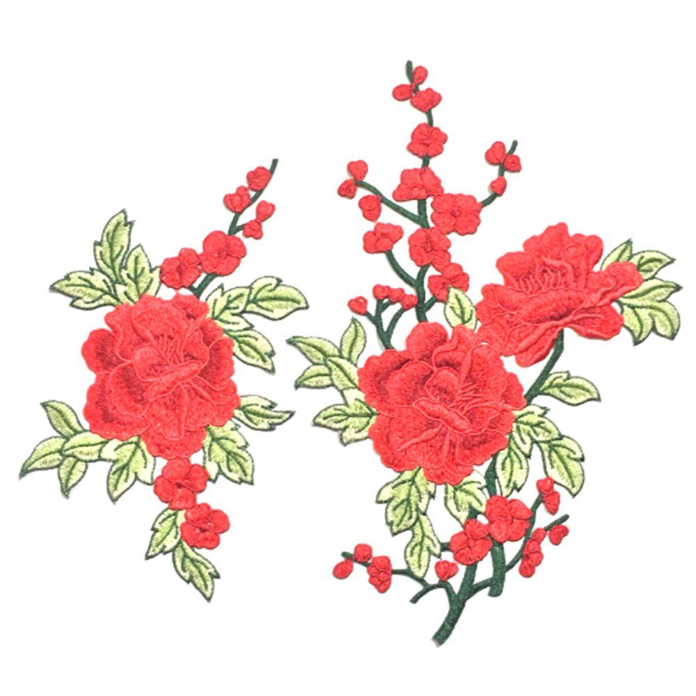 broderie rose fleur coudre sur patch insigne sac chapeaux jeans robe applique artisanat dans. Black Bedroom Furniture Sets. Home Design Ideas