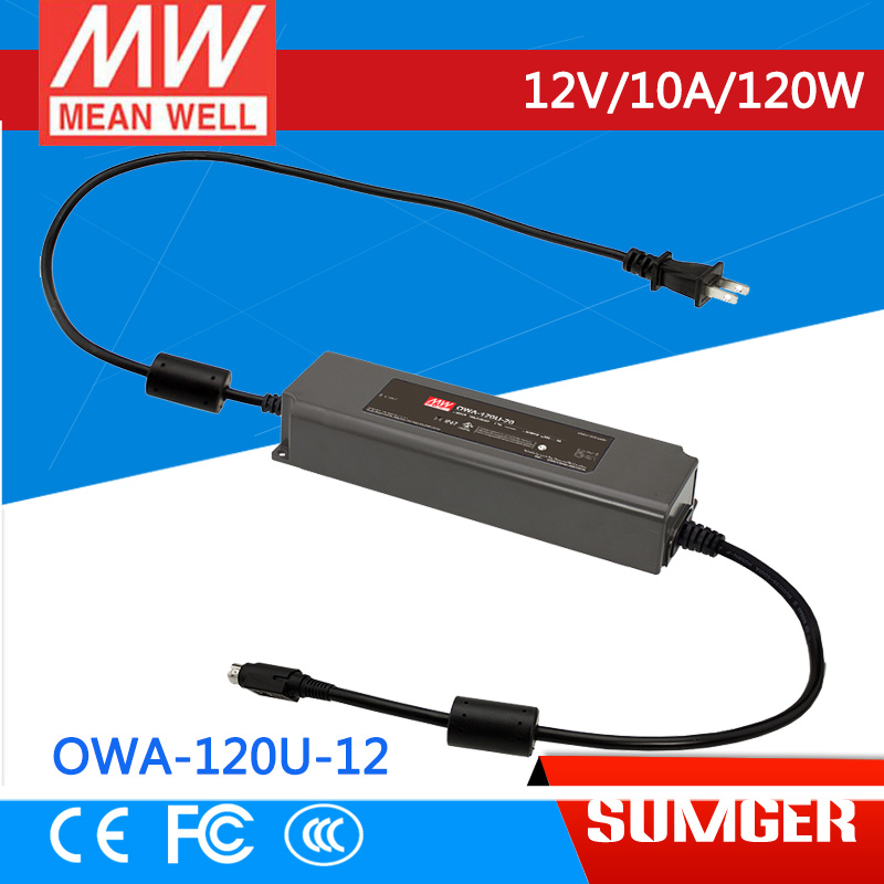 1MEAN WELL original OWA-120U-12 12V 10A meanwell OWA-120U 12V 120W Single Output Moistureproof Adaptor