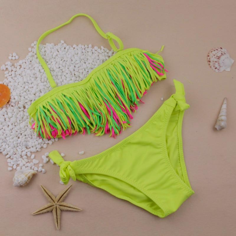 2015 New Summer barn delt bikini barn badetøy dusk baby barn biquini infantil badedrakt bikini jente badedrakt